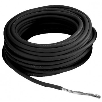Câble 10 mm² - Noir - 25 Mètres