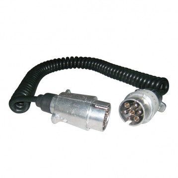Rallonge Spirale 7 conducteurs - 3M50 (fiche metal)