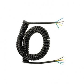 Cordon Spirale Nu - 5 Conducteurs - 7M