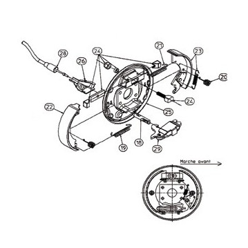 Kit Ecarteurs RA2 - Moyeu 1640 - RTN/GOETT