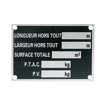 Plaque Constructeur - Remorque