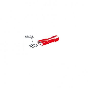 Cosses plates femelles rouges 6,35 mm - sachet de 1000
