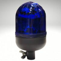 Gyrophare MICROROT tige rigide bleu H1 24 V - H. 204 mm - Ø 110 mm