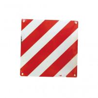 Panneau Rouge/Blanc - 500x500 mm