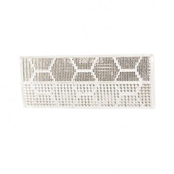 Catadioptre Blanc Adhesif - 110x44 mm