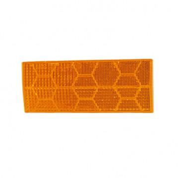 Catadioptre Orange Adhesif - 110x44 mm