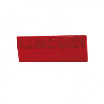 Catadioptre Rouge Adhesif - 110x44 mm