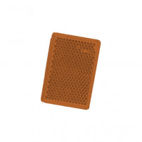 Catadioptre Orange Adhesif - 57x39 mm