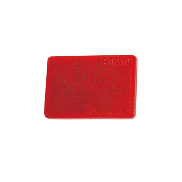 Catadioptre Rouge Adhesif - 57x40 mm