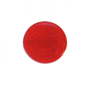 Catadioptre Rouge Adhesif - Diam 54 mm