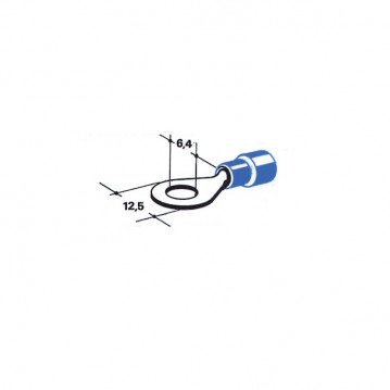 Cosse - Diam 6 mm - Bleu (Par 100)
