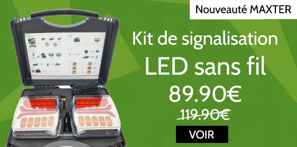 Kit de signalisation magnétique LED sans fil